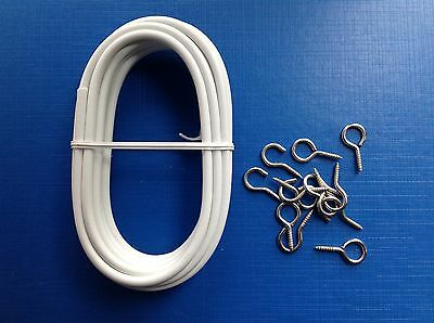3m Expanding Curtain Voil Net Wire inc. hooks & eyes