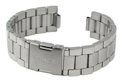 Timex Spare Band Stainless Steel Silver High Gloss/Matte for T2N498 T2N496