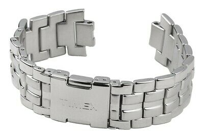 Timex Spare Band Stainless Steel Silver High Gloss/Matte for T2M759 T2M758