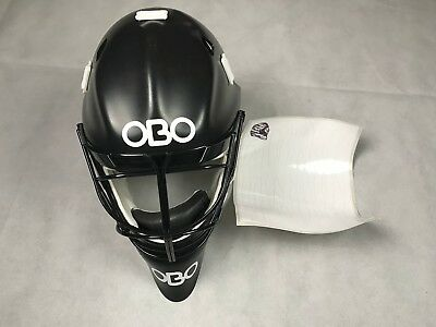 Obo Robo Pe Field Hockey Goalkeeping Goalie Helmet Mask Black New Medium