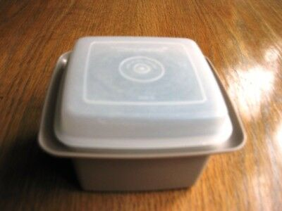 Vintage Square Tupperware  Cheese / Butter Storage Container With Lid