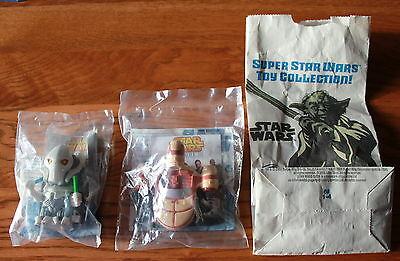2 New Star Wars Episode III Revenge of the Sith 2005 Burger King Happy Meal Toys