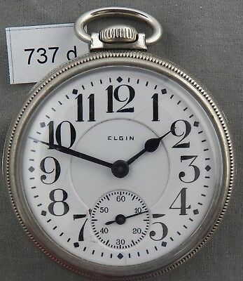 Elgin Father Time 21 Jewel, 16 Size, Railroad Pocket Watch