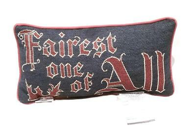 """New Disney Parks Snow White Blue Fairest One Of All Pillow - 16"""" x 8"""" - NWT"""