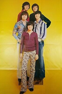 """Poster 1971 The Osmonds HUGE Wall Poster 33""""x48"""" Yellow Background"""