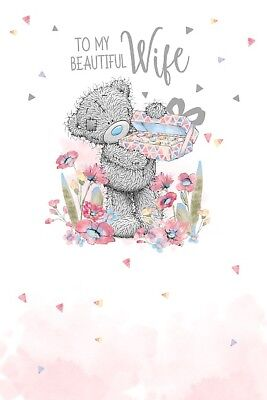 For my Beautiful WIFE - Medium - Tatty Teddy Me to You - Birthday Card
