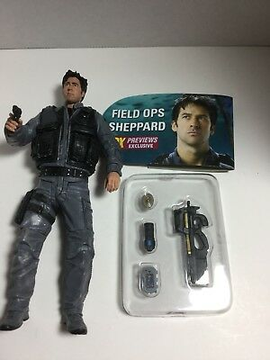 Stargate Atlantis Field OPS Sheppard Previews Exclusive Loose with Accessories