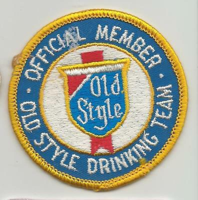 Old Style Drinking team patch