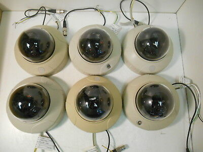 (6) Panasonic WV-CF224 CCTV Color Dome Security Surveillance Cameras