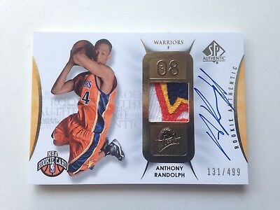 2008/09 Upper Deck SP Authentic #129 ANTHONY RANDOLPH RPA 3 color patch,Warriors