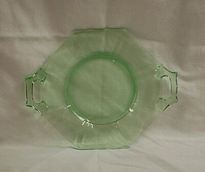 Vintage Depression Artura Green by Indiana Glass Tidbit Serving Tray Multi-Sided
