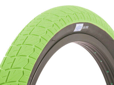 "Innova Green Sidewall Tire Blackeye Intergalactic BMX Tyre 20/"" x 2.40 Black"