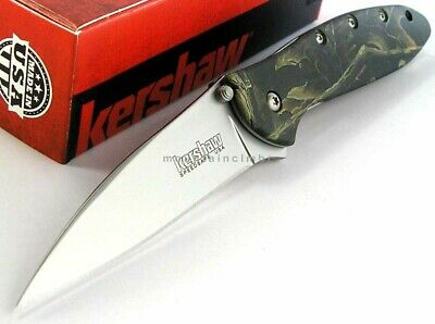 Kershaw Leek CAMO Flipper Speed Assisted Opening Knife BOX USA 1660CAMO