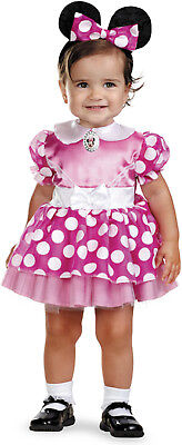 Disguise Minnie Mouse Deluxe Toddler Costume Pink Size 2T Dress & Ears Band Girl