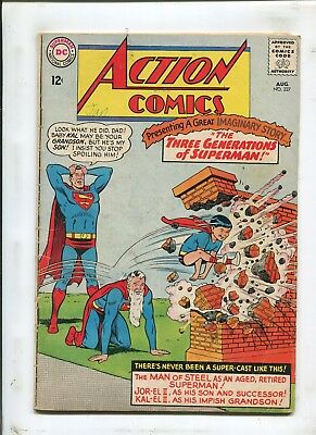 Action Comics #327 - Three Generation's Of Superman! - (4.0) 1965