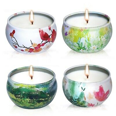 YIHANG Scented Candles Gift Set - Lavender, Rose, Tea Tree and Peppermint Candle