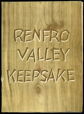 "1940 Renfro Valley Keepsake ""Renfro Valley Barn Dance"" Book - Renfro,KY"