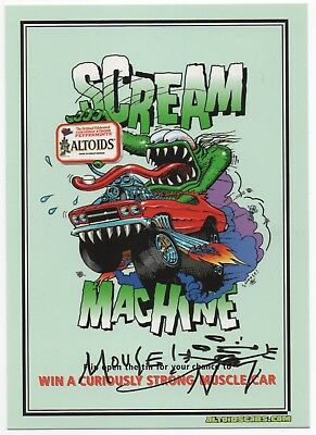 Original '02 Stanley Mouse Promo Postcard Scream Machine Old School Signed Mouse