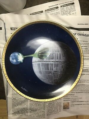 Star Wars Death Star Hamilton Vehicles Collection Plate 1997