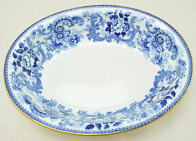 Antique Minton Claremont Blue and White Oval Vegetable Serving Bowl circa 1900