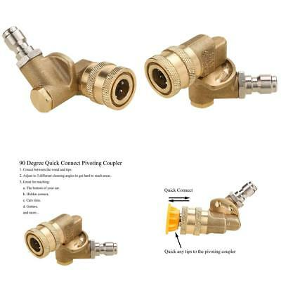 Tool Daily Quick Connecting Pivoting Coupler for Pressure Washer Nozzle,...