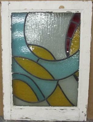 "MID SIZED OLD ENGLISH LEADED STAINED GLASS WINDOW Awesome Swirls 16.75"" x 23"""