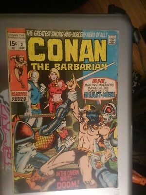 Conan The Barbarian # 2, in the Cavern Waits, Dec 1970, Barry Smith, 8.0-9.0