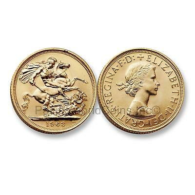 Great Britain 1963 Sovereign Gold Coin SKU#6601
