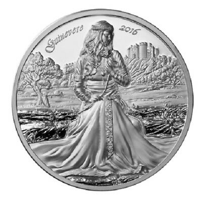 2016 Guinevere 2oz Max Relief Proof Silver Coin - Choice Mint