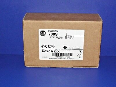 NEW IN BOX Allen Bradley 700S-CF620DC Safety Control Relay