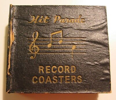 """Vintage 1950's """"hit Parade"""" 78 Rpm Doo-Wop Record Coasters Set Of 8 - Fair Cond."""