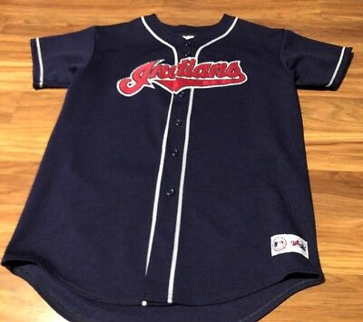 Cleveland Indians Majestic Made in USA Youth XL Jersey Genuine MLB Vintage 54c2f930e