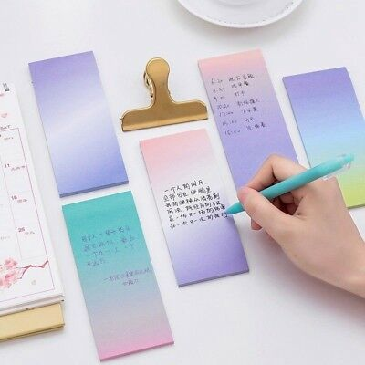 Latest Rainbow Memo Pad Paper Sticky Notepad Stationery Note Stickers Bookmark