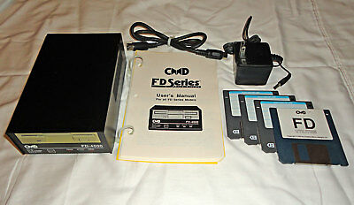 """CMD FD-4000 3.5"""" floppy drive for Commodore 64 and 128 with Manual & 3.2 MB disk"""