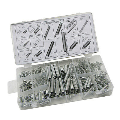 200pc 20 Sizes Spring Assortment Set Zinc Plated Steel Compression Extension