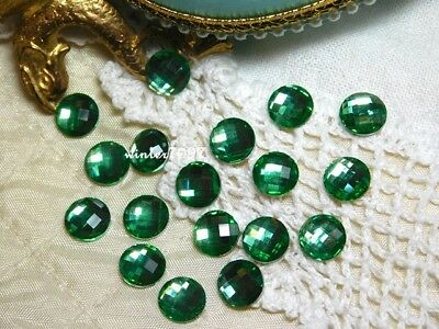 (137)*costume Makers Sellout*flat Back Rhinestones*green*round*new!*