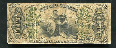"""50 Fifty Cents Third Issue Fractional Currency Note """"Justice"""""""