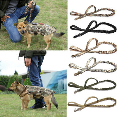K9 Tactical Dog Leash Police Training Elastic Bungee Military Canine w/ Handle