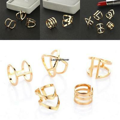 5Pcs Women Fashion Bohemian Style Geometry Rings Set Knuckle Rings ILOE