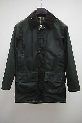 Vintage 1980's Barbour Beaufort 2 Royal Crest Sage Green Waxed Jacket Mens 32