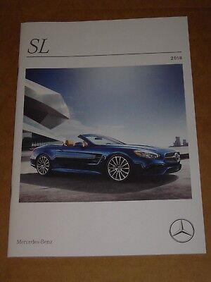2018 Mercedes Benz Sl + Amg Brochure 26 Pages Mint!