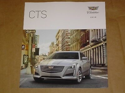 2018 Cadillac Cts + V-Sport Brochure Mint! 48 Pages