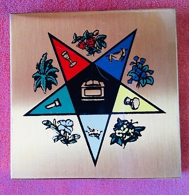 Vintage Order Eastern Star Powder Compact Masonic
