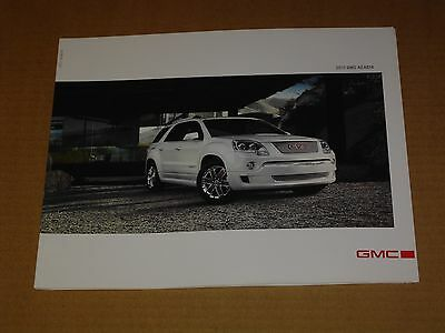 2011 Gmc Acadia Sales Brochure Mint! 28 Pages