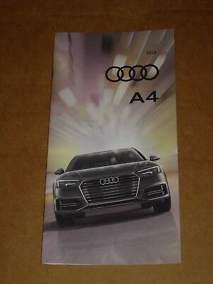 2018 Audi A4 Brochure Mint! 28 Pages S4