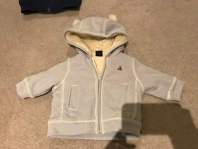 Gap Warm Hoodie 3-6 Months Baby Boy Blue