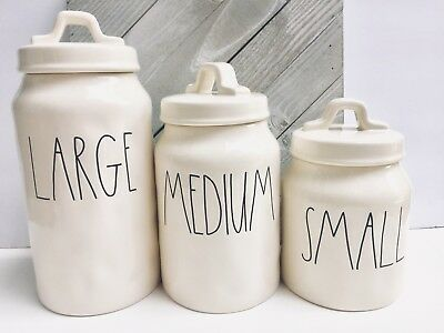 Rae Dunn Large Medium Canister Set LL Letters Hard To Find