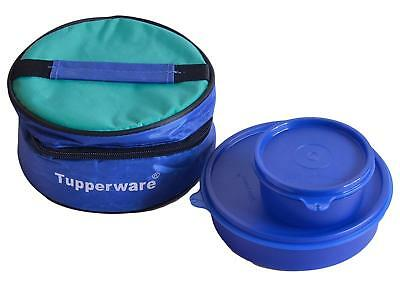 TUPPERWARE CLASSIC PLASTIC Lunch Box with Bag, 2-Pieces, Blue - Free  Shipping