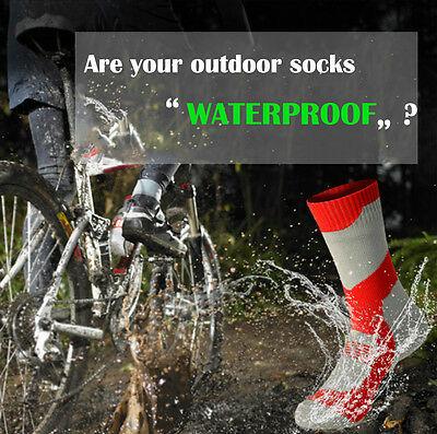 Comfort Waterproof Socks Bamboo Fiber Sport Riding Breathable Cycling Socks