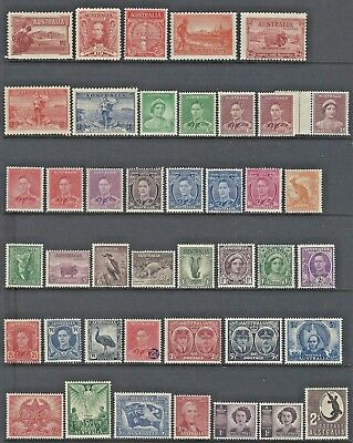 Collection of Mint Never Hinged Pre Decimal Stamps 5 pages 200 MNH Coils Booklet